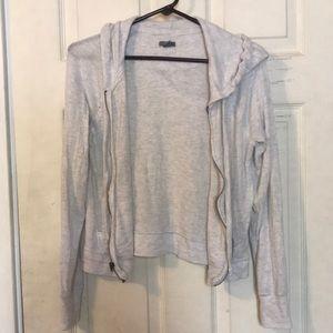 light grey zip up hoodie